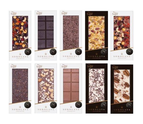 Σοκολάτες Χωρίς Πρόσθετη Ζάχαρη